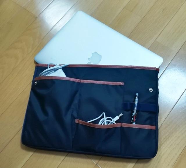 コクヨのバッグインバッグにMacBook Airを入れたところ