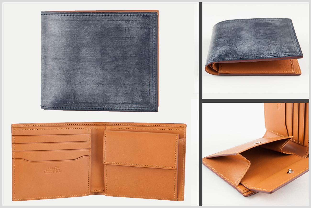 FESONのブライドルレザーの二つ折り財布の画像
