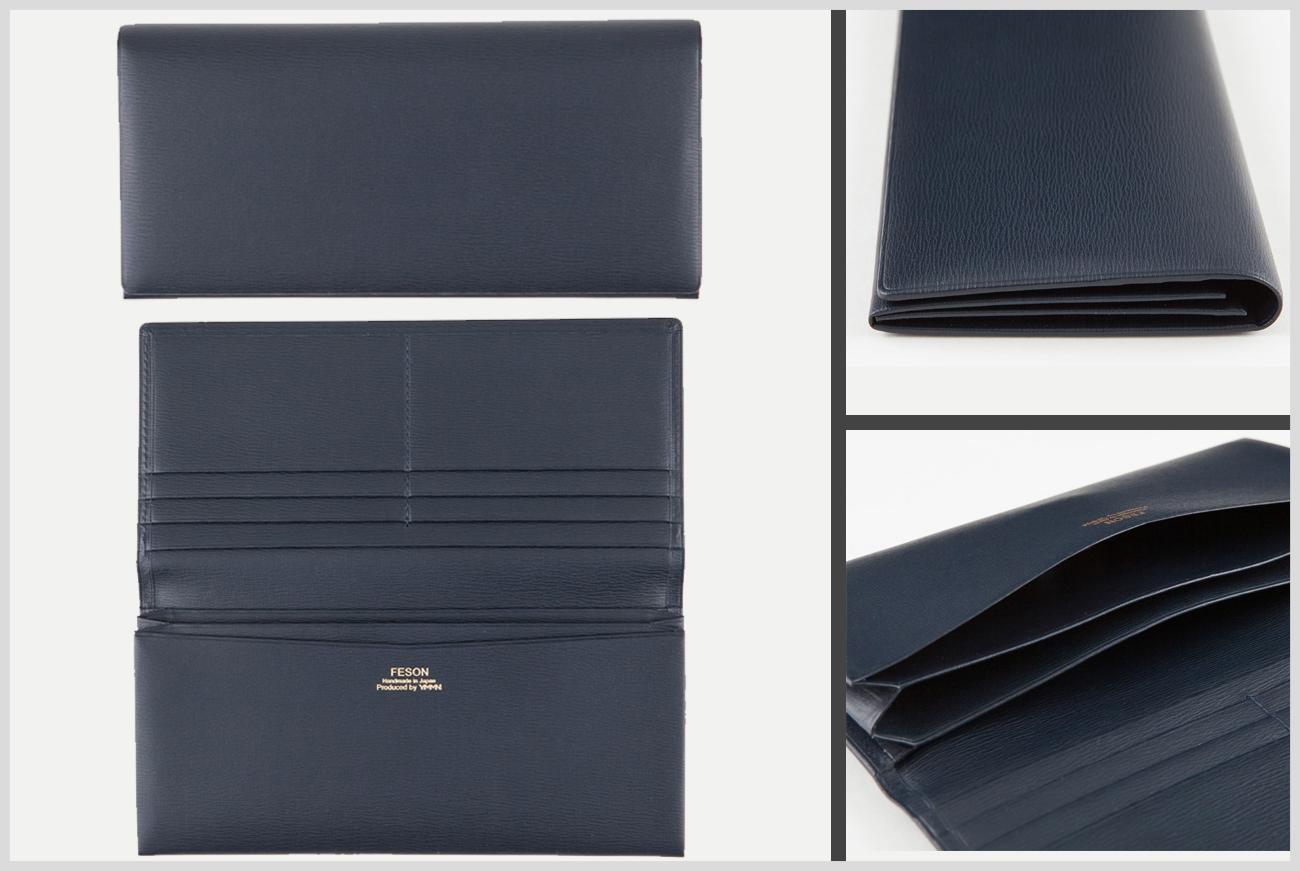 FESONのキップ水シボ長財布の画像