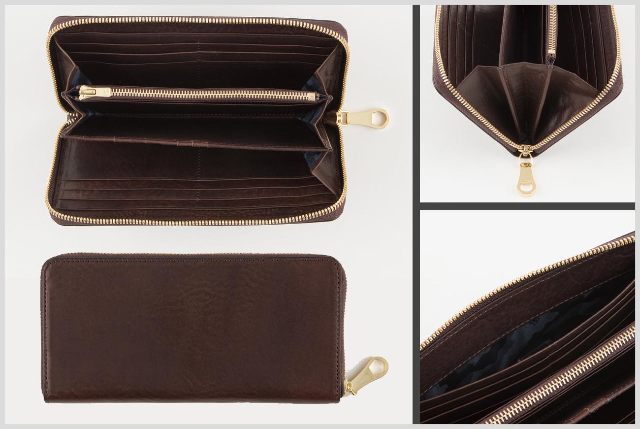 チマブエのアンブローズラウンドジップ長財布の画像