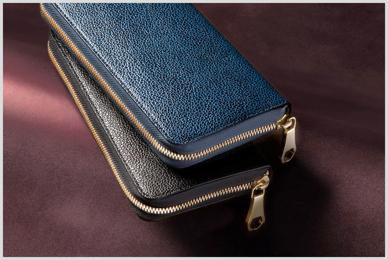 チマブエの漆塗り長財布の画像