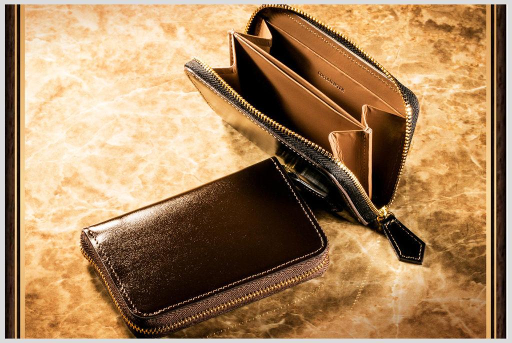 ココマイスターのクリスペルカーフのコインケース