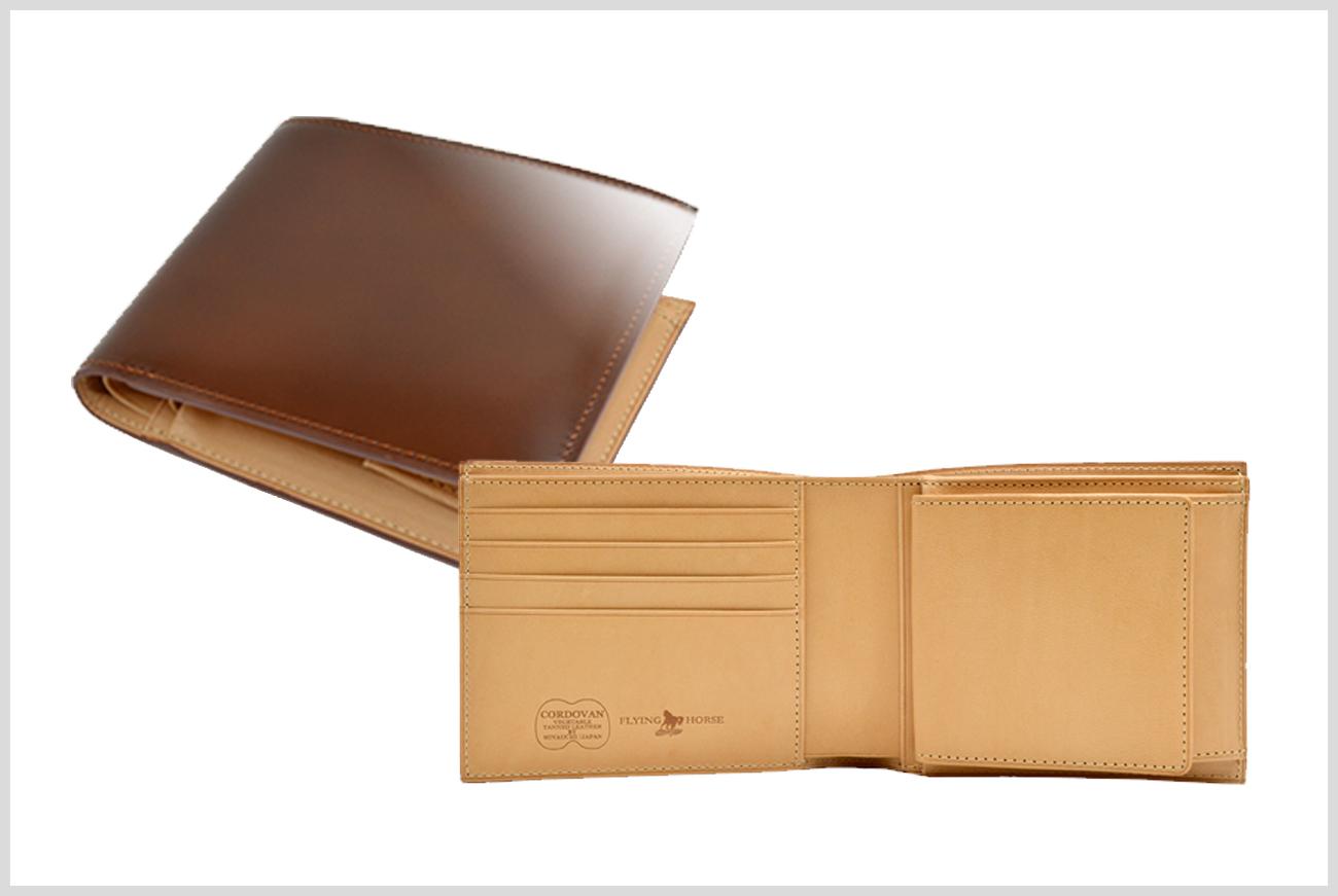 フライングホースのメンズ二つ折り財布の画像