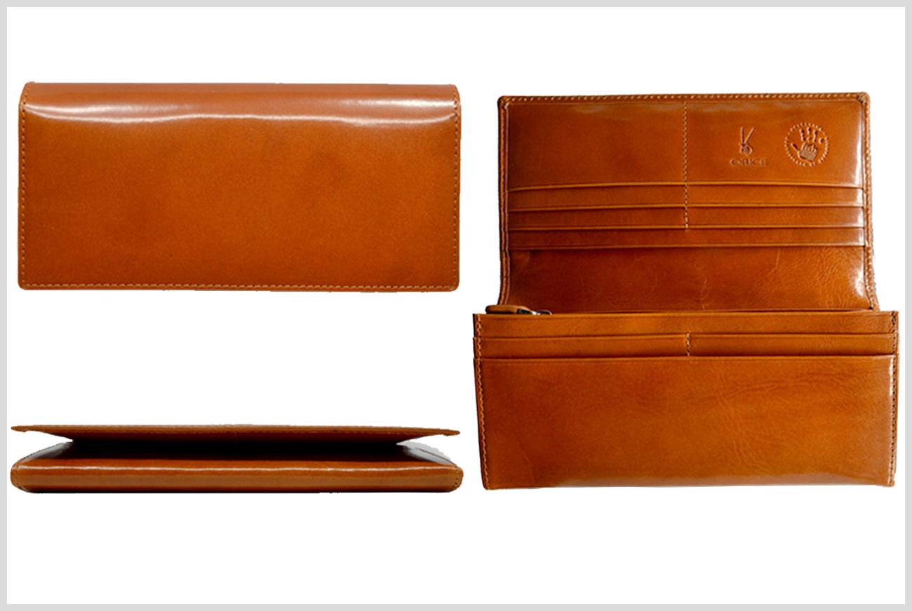 オリーチェのメンズ長財布の画像