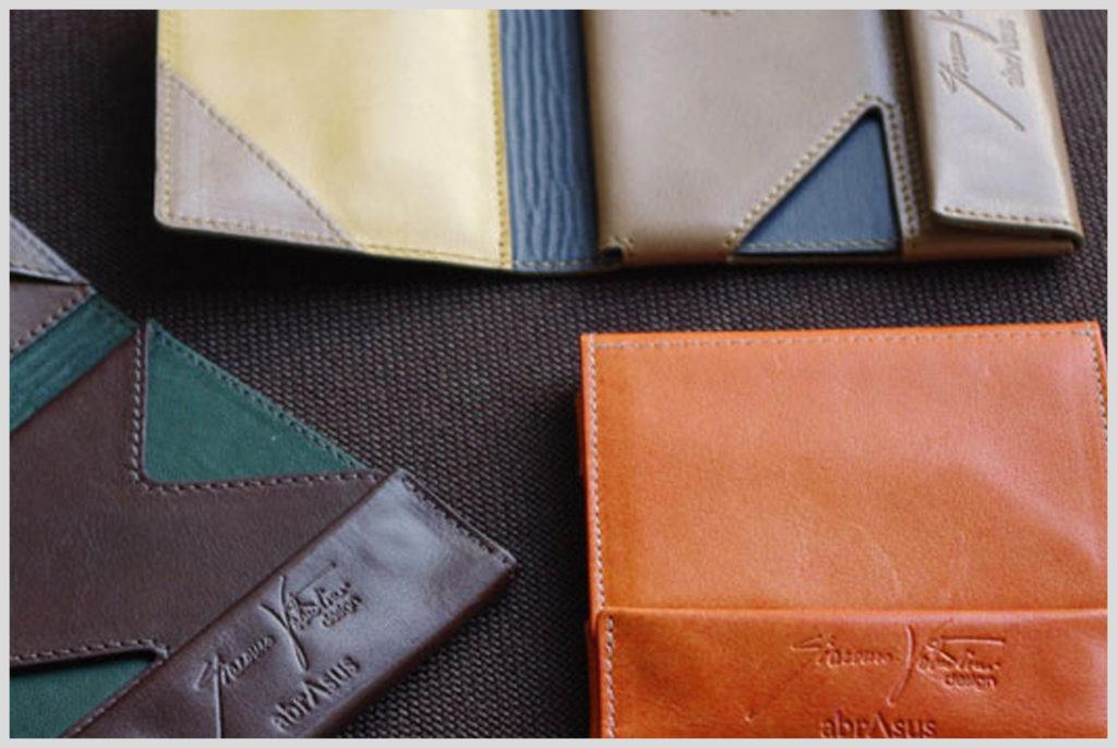 アブラサスとオロビアンコがコラボした薄い財布の画像