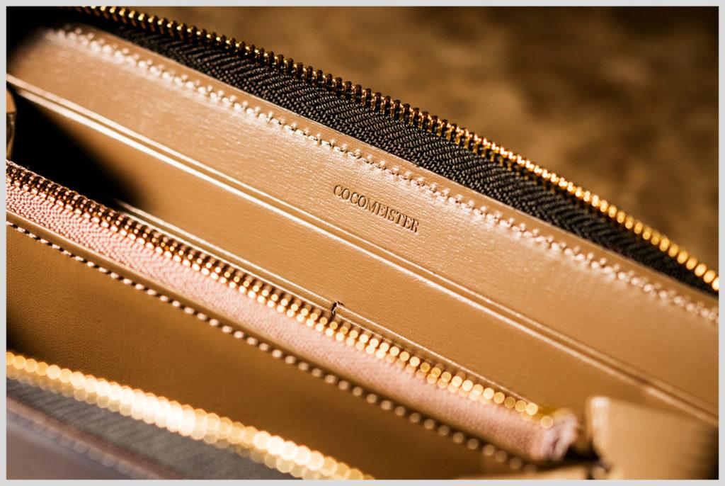 ココマイスターのクリスペルカーフシリーズの財布の内装