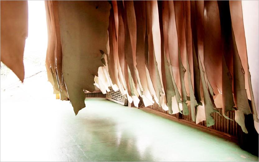 ガンゾで取り扱っている天然ヌメ革