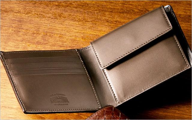 ポンテマットーネの二つ折り財布の内装