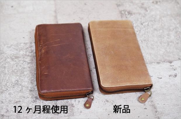 ハレルヤの財布のエイジング