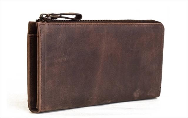 ハレルヤのプルアップレザーの財布