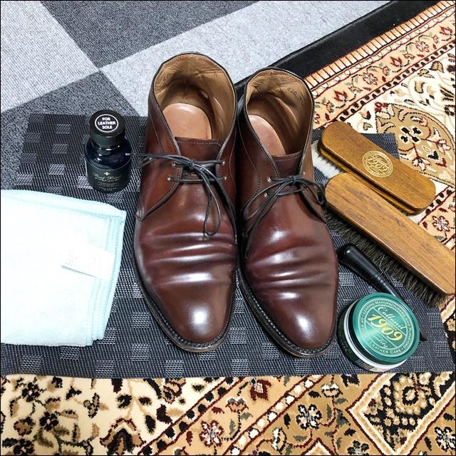 リーガルのコードヴァンの靴 (22)