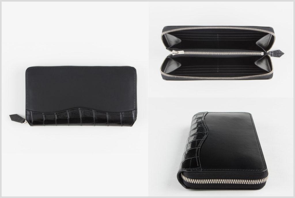 ブリランテ×ナイルクロコのラウンドファスナー財布