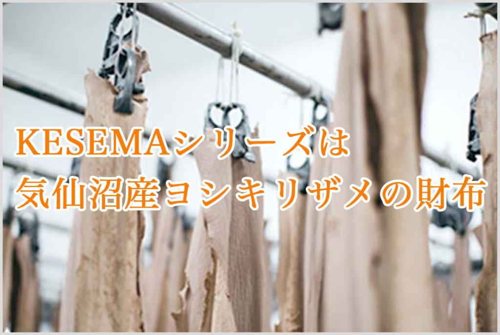 KESEMAのサメ革